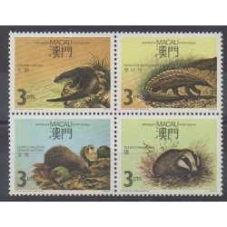 Macao - 1988 - Nb 560/563 - Mamals - Endangered species - WWF
