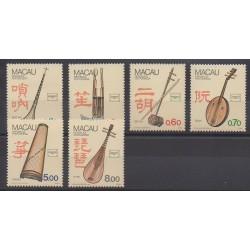 Macao - 1986 - No 525/530 - Musique