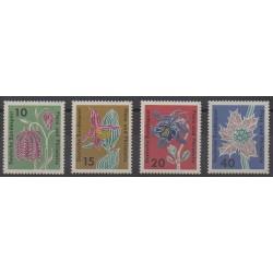 Allemagne occidentale (RFA) - 1963 - No 264/267 - Fleurs