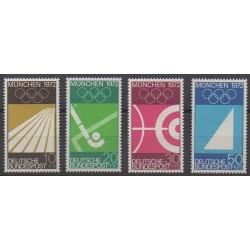Allemagne occidentale (RFA) - 1969 - No 450/453 - Jeux Olympiques d'été