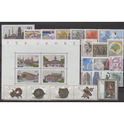 Allemagne occidentale (RFA - Berlin) - Année complète - 1987 - No 733/758
