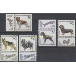 Germany - 1995 - Nb 1629/1633 - Dogs