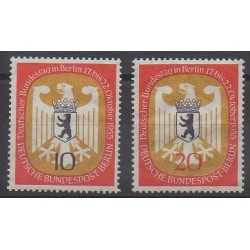 West Germany (FRG - Berlin) - 1956 - Nb 121/122 - Coats of arms