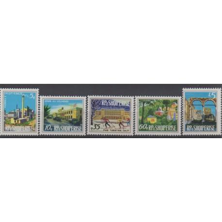 Albania - 1974 - Nb 1498/1502 - Monuments