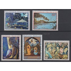 Polynesia - Airmail - 1972 - Nb PA55/PA59 - Paintings