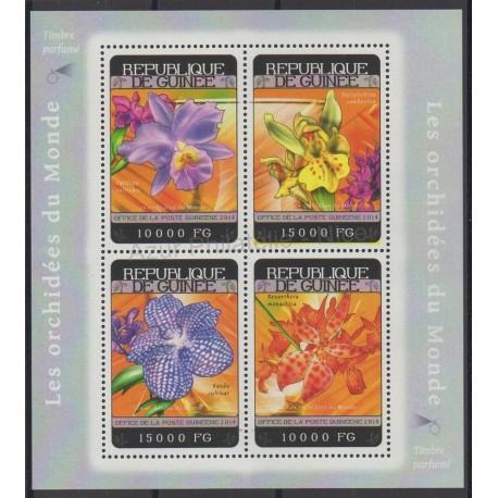 Guinée - 2014 - No 7202/7205 - orchidées