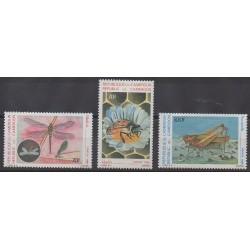 Cameroun - 1986 - No 782/784 - Insectes