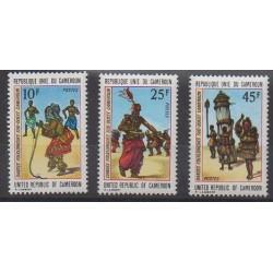 Cameroun - 1973 - No 549/551 - Folklore