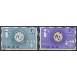 Gambie - 1965 - No 203/204 - Télécommunications