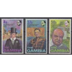 Gambie - 1974 - No 295/297 - Célébrités
