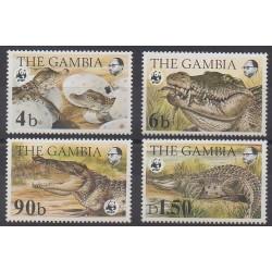 Gambia - 1984 - Nb 510/513 - Reptils