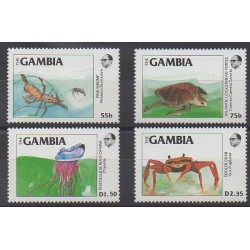 Gambia - 1984 - Nb 528/531 - Sea animals