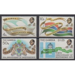 Gambia - 1975 - Nb 304/307 - Various Historics Themes
