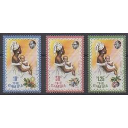 Gambie - 1976 - No 327/329 - Noël