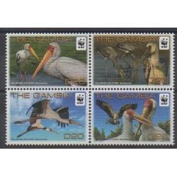 Gambie - 2011 - No 5103/5106 - Oiseaux - Espèces menacées - WWF