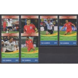 Gambie - 2010 - No 5018T/5018Y - Coupe du monde de football
