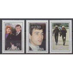Gambie - 1986 - No 606/608 - Royauté - Principauté