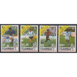 Gambia - 1990 - Nb 961/964 - Soccer World Cup