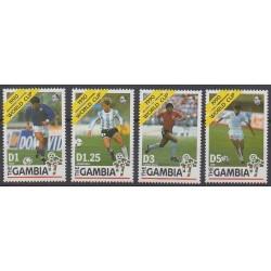 Gambie - 1990 - No 961/964 - Coupe du monde de football