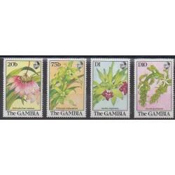 Gambie - 1989 - No 845/848 - Orchidées