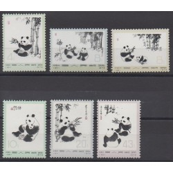 Chine - 1973 - No 1869/1874 - Animaux
