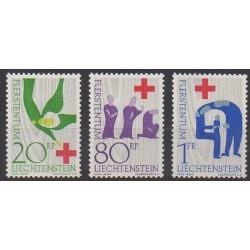 Liechtenstein - 1963 - No 378/380 - Santé ou Croix-Rouge