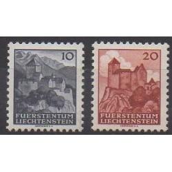 Liechtenstein - 1944 - No 197/198 - Châteaux