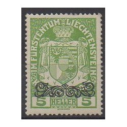 Lienchtentein - 1920 - Nb 11 - Coats of arms