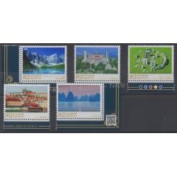 Japon - 2015 - No 6959/6963 - Sites