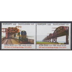 Bangladesh - 2017 - No 1061/1062 - Chemins de fer - Ponts