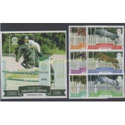 Cuba - 2014 - Nb 5252/5257 - BF 309 - Horses