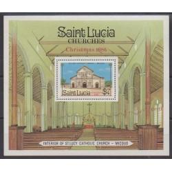 Sainte-Lucie - 1986 - No BF49B - Églises