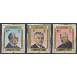 Gibraltar - 1980 - No 407/409 - Célébrités - Europa