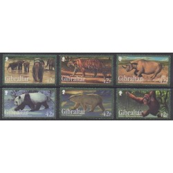 Gibraltar - 2011 - Nb 1431/1436 - Mamals - Endangered species - WWF