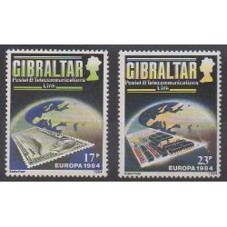 Gibraltar - 1984 - Nb 483/484 - Telecommunications - Stamps on stamps - Europa