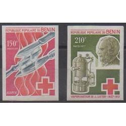 Bénin - 1977 - No 395/396 ND - Santé ou Croix-Rouge
