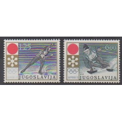 Yugoslavia - 1972 - Nb 1331/1332 - Winter Olympics