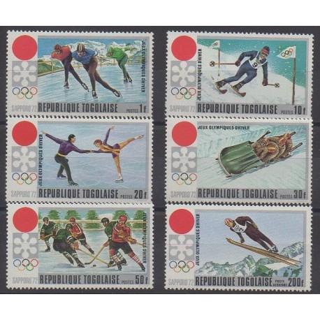 Togo - 1971 - No 722/726 - PA167 - Jeux olympiques d'hiver