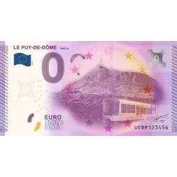 Billet souvenir - Orcines le Puy-de-Dome - 2015