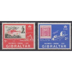 Gibraltar - 1970 - No 236/237 - Timbres sur timbres - Philatélie