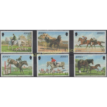 Jersey - 1996 - No 748/753 - Chevaux