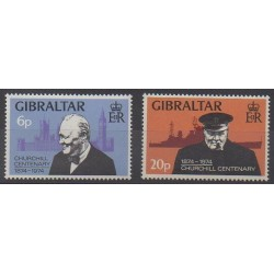 Gibraltar - 1974 - Nb 314/315 - Celebrities