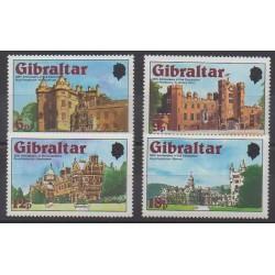 Gibraltar - 1978 - No 372/375 - Châteaux