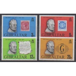 Gibraltar - 1979 - Nb 389/392 - Celebrities - Stamps on stamps