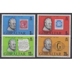 Gibraltar - 1979 - No 389/392 - Célébrités - Timbres sur timbres
