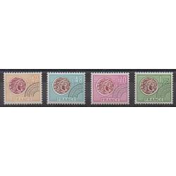 France - Préoblitérés - 1975 - No P134/P137 - Monnaies, billets ou médailles
