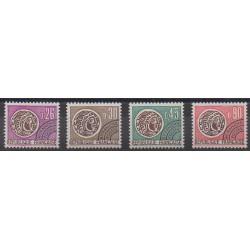 France - Préoblitérés - 1971 - No P130/P133 - Monnaies, billets ou médailles