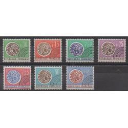 France - Préoblitérés - 1964 - No P123/P129 - Monnaies, billets ou médailles