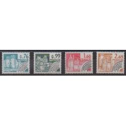 France - Préoblitérés - 1980 - No P166/P169 - Châteaux