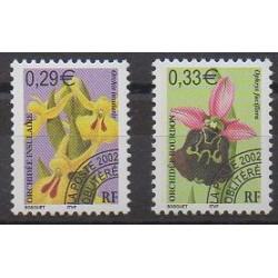 France - Préoblitérés - 2002 - No P244/P245 - Orchidées